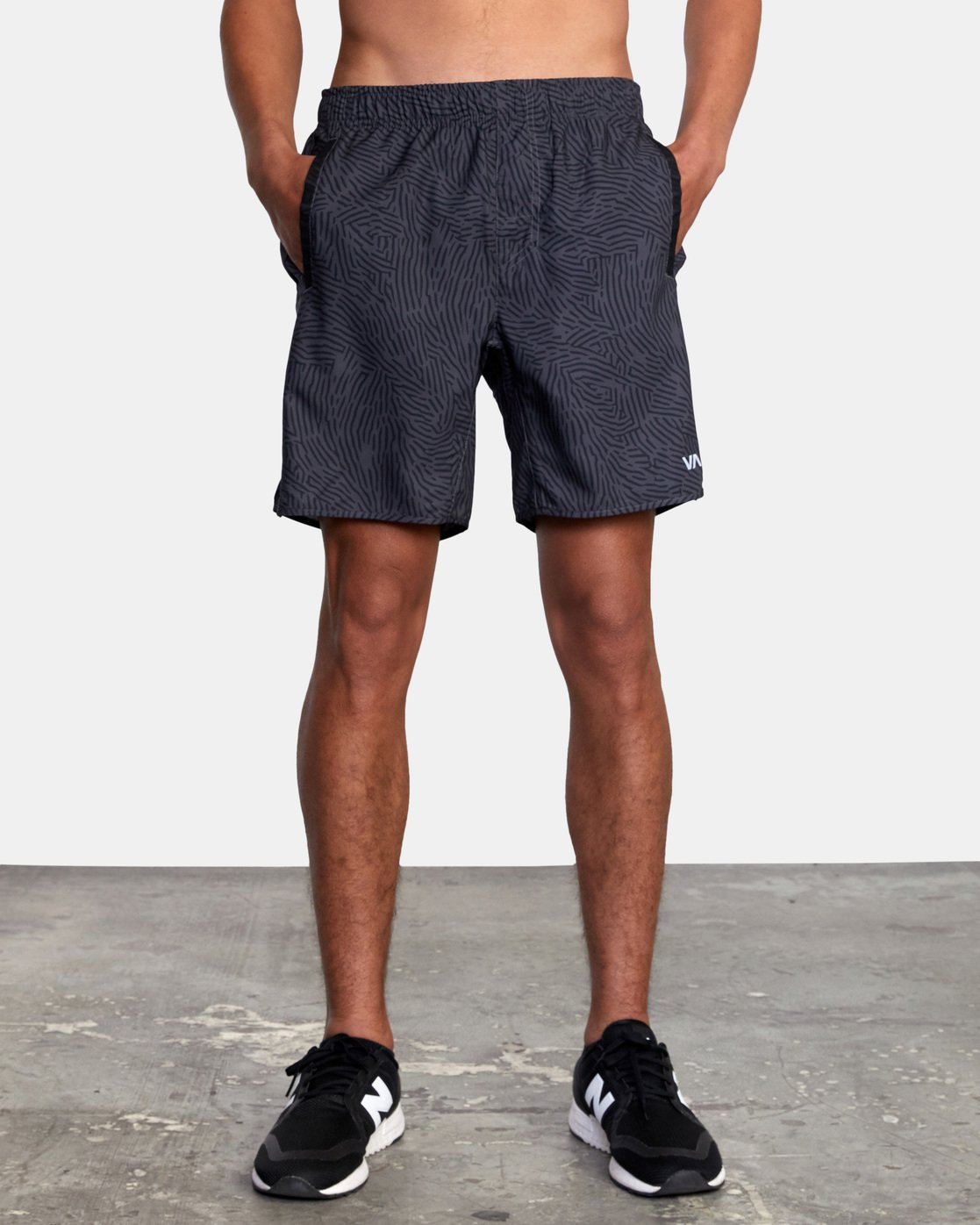 "2 YOGGER IV ATHLETIC SHORTS 17"" Grey V2091YGR RVCA"