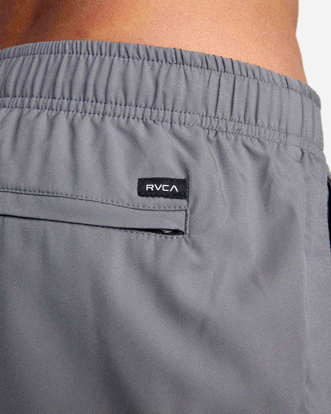 "9 YOGGER IV Recycled 17"" WORKOUT SHORT Grey V2091YGR RVCA"