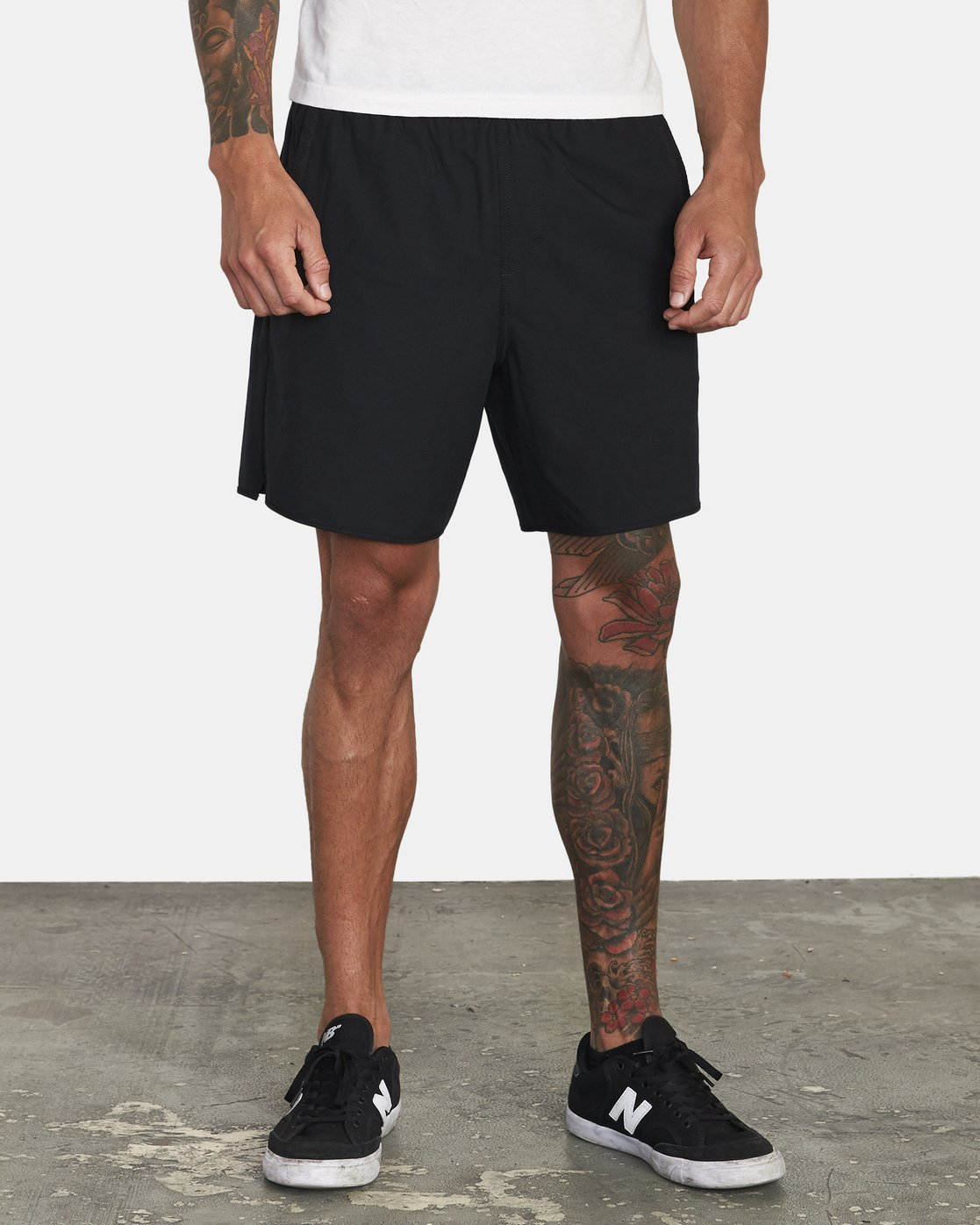 "9 YOGGER IV ATHLETIC SHORTS 17"" Black V2133RYG RVCA"