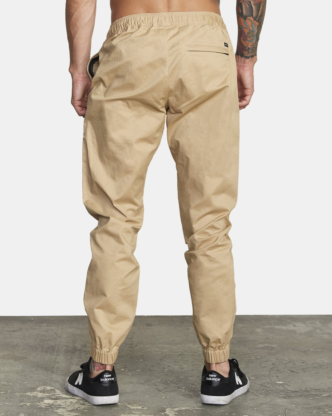 3 SPECTRUM CUFFED WOVEN PANT Brown V3031RSC RVCA