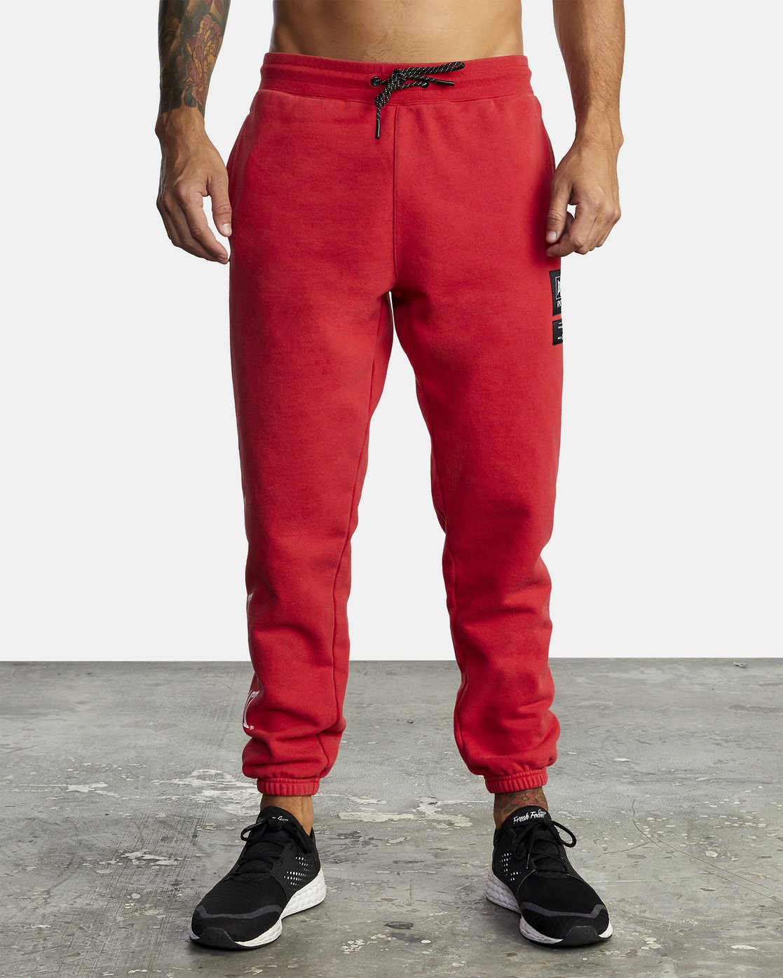 2 EVERLAST SPORT SWEATPANT Red V3071RES RVCA