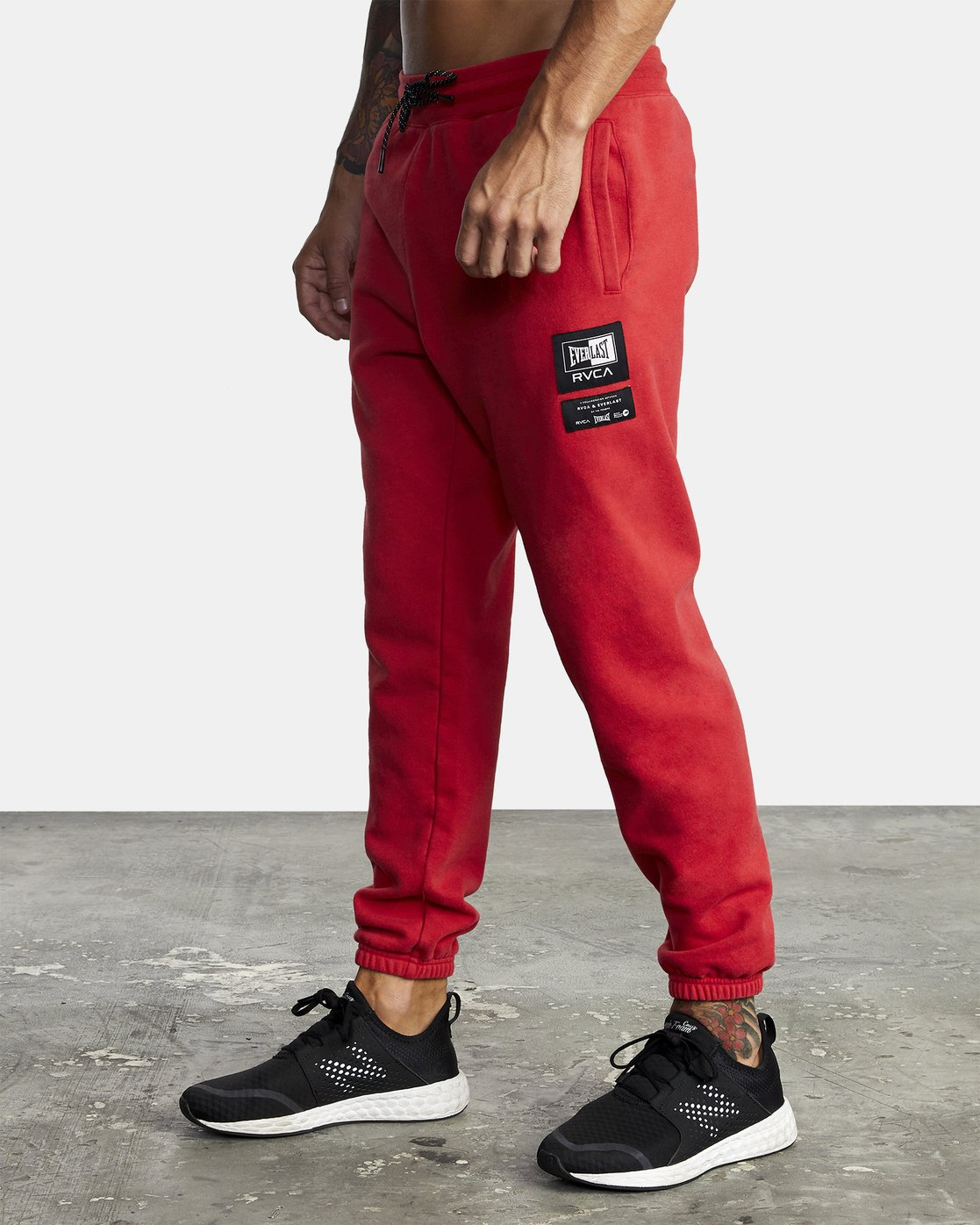 4 EVERLAST SPORT SWEATPANT Red V3071RES RVCA