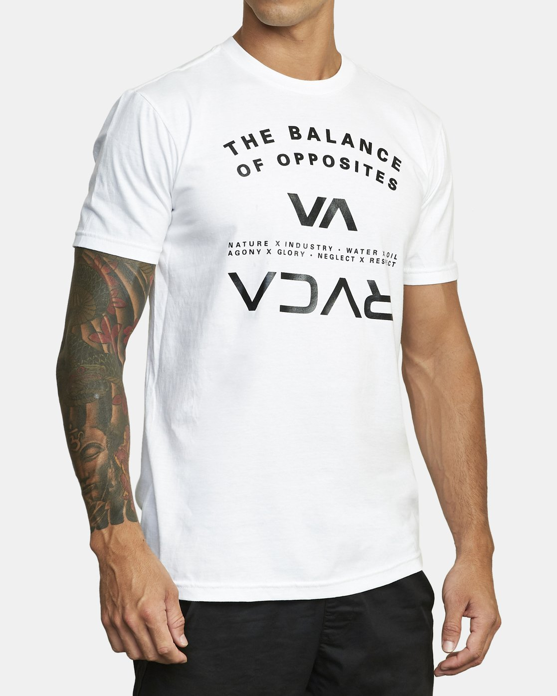 4 BALANCE ARC SHORT SLEEVE TEE White V4013RBA RVCA