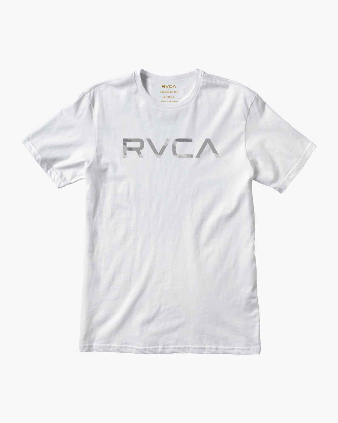 1 Big RVCA Sport T-Shirt White V402SRBI RVCA