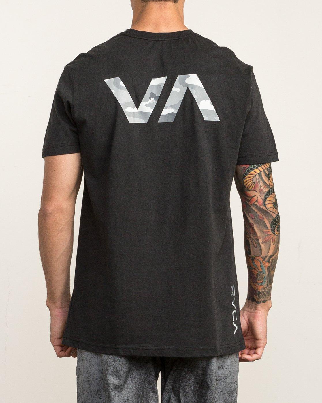 5 Big RVCA Sport T-Shirt Black V402SRBI RVCA