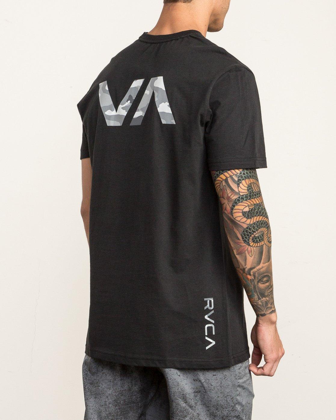 4 Big RVCA Sport T-Shirt Black V402SRBI RVCA