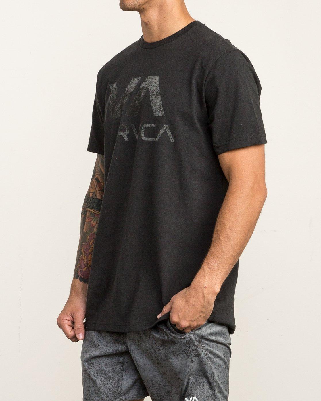 2 VA RVCA Sport T-Shirt Black V402SRVA RVCA