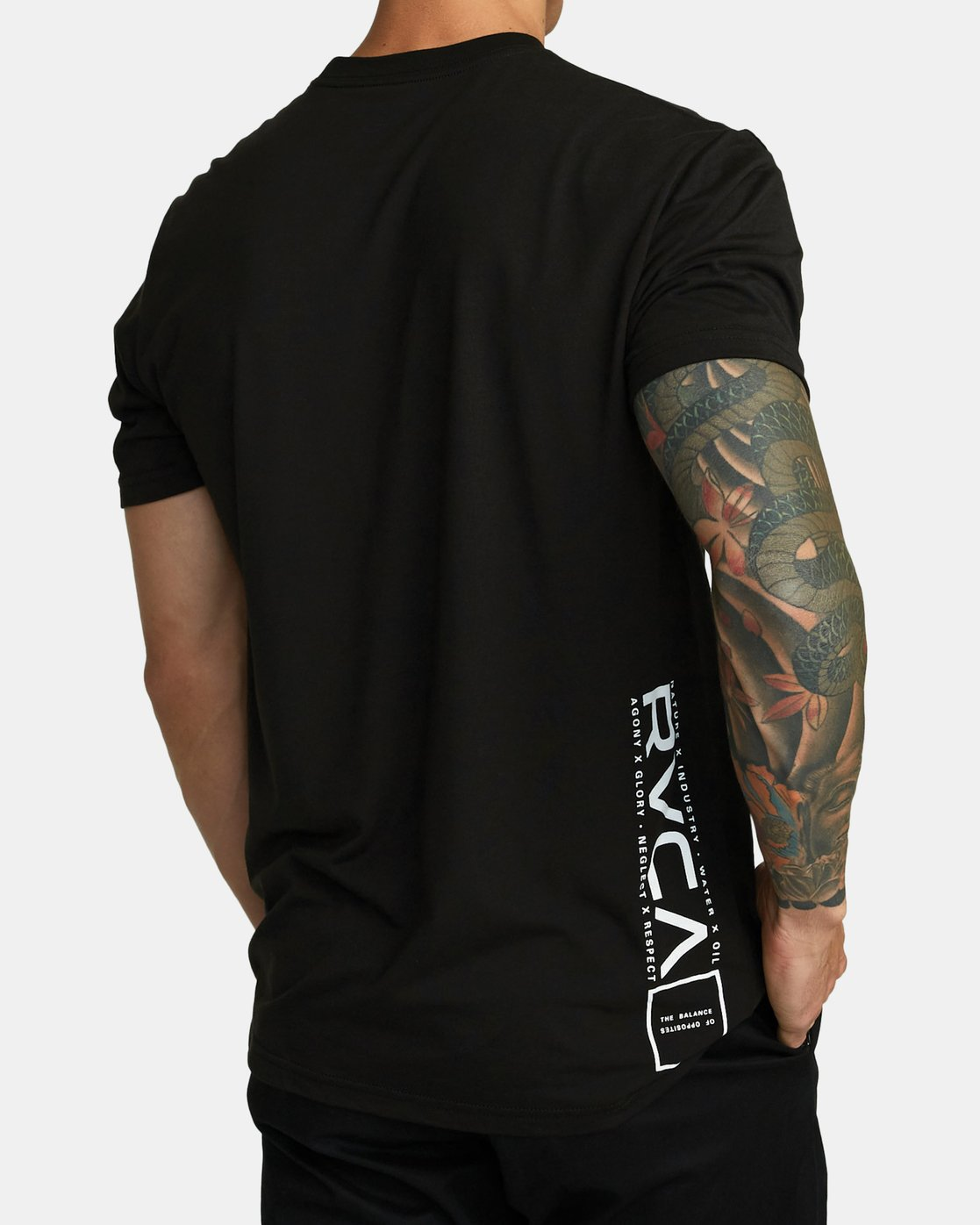 3 RVCA LANE T-SHIRT Black V4041RRL RVCA