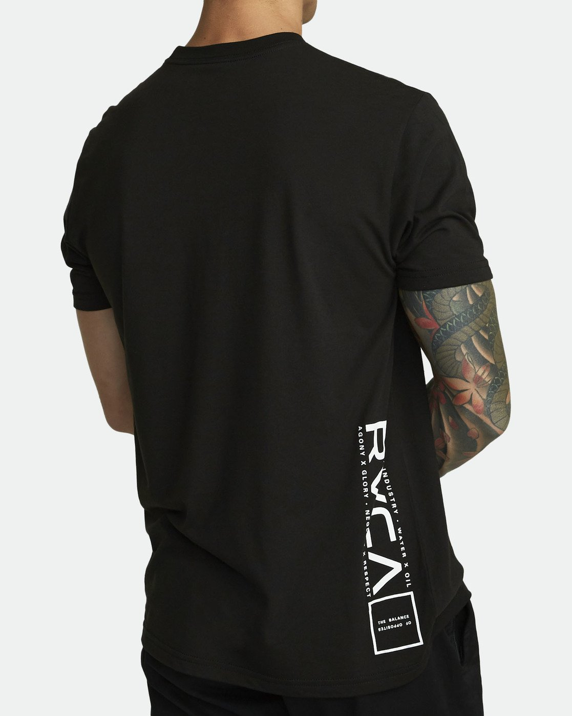 2 RVCA LANE T-SHIRT Black V4041RRL RVCA