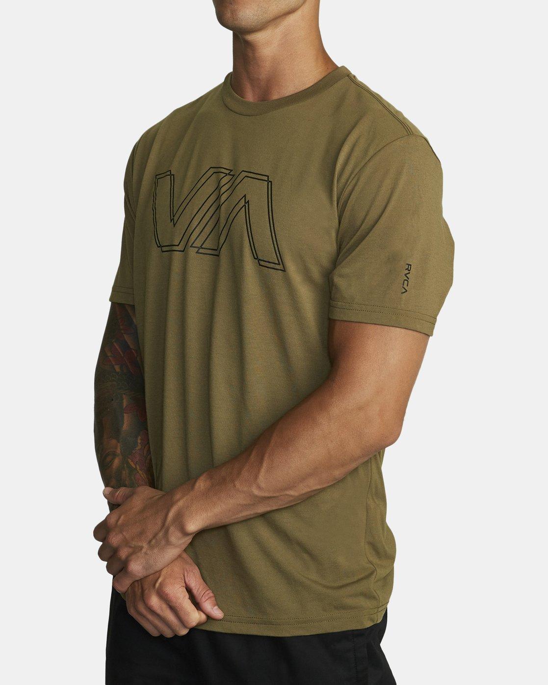 1 VA OFFSET T-SHIRT Green V4041RVO RVCA