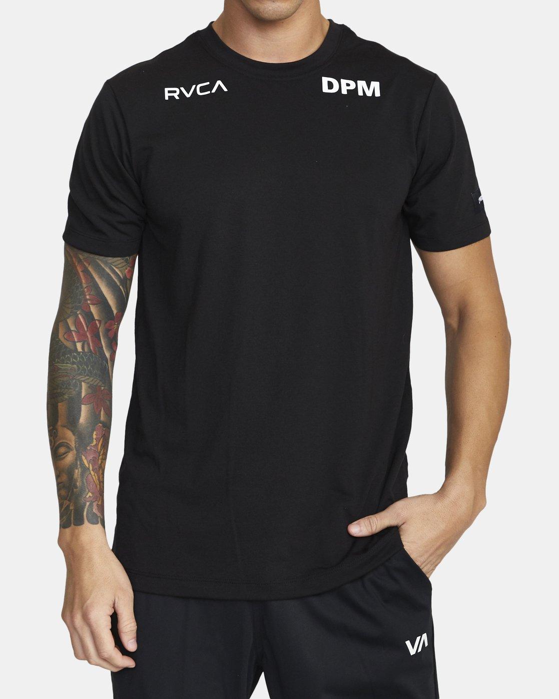 2 DPM SPORT TEE Black V4043RDP RVCA