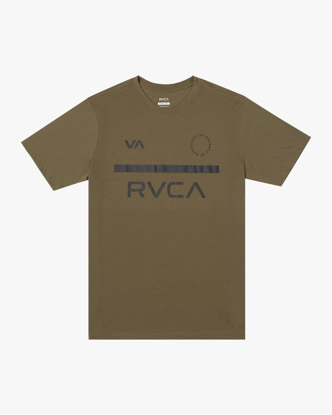 0 MID BAR SHORT SLEEVE TEE Green V4043RMI RVCA