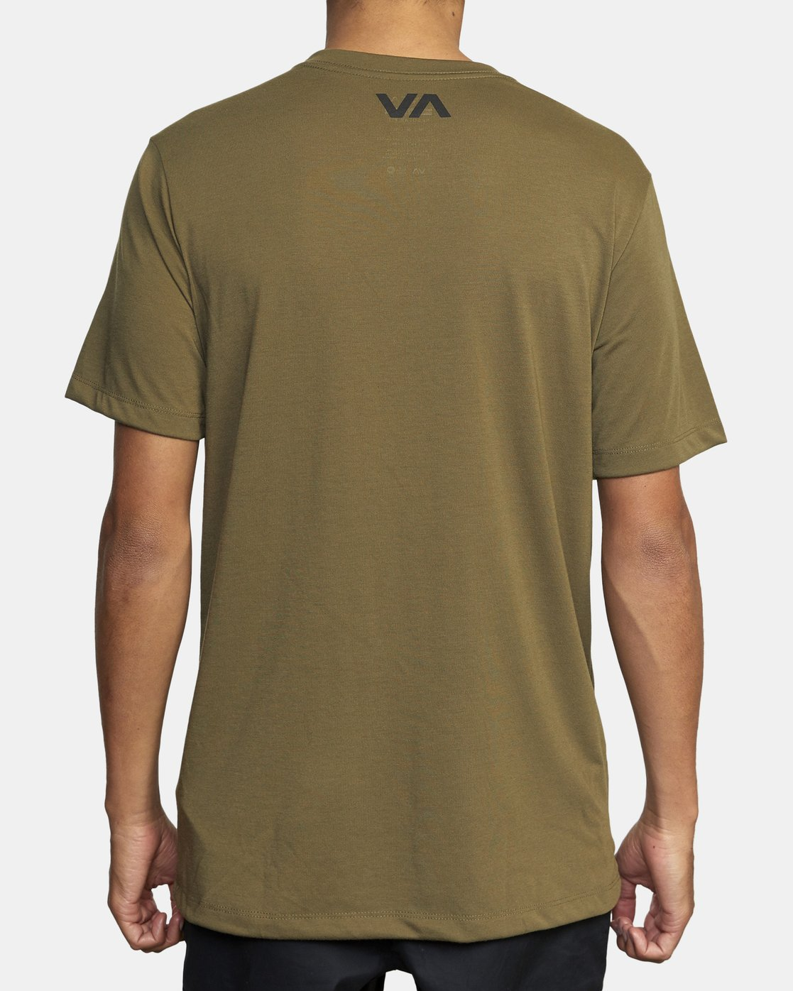 2 MID BAR SHORT SLEEVE TEE Green V4043RMI RVCA