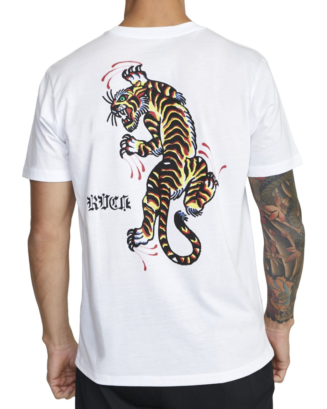 5 TIGER KRAK SHORT SLEEVE TEE White V4043RTI RVCA