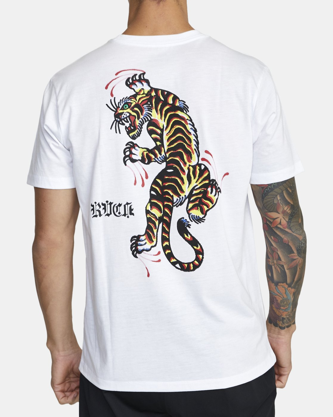 2 TIGER KRAK SHORT SLEEVE TEE White V4043RTI RVCA