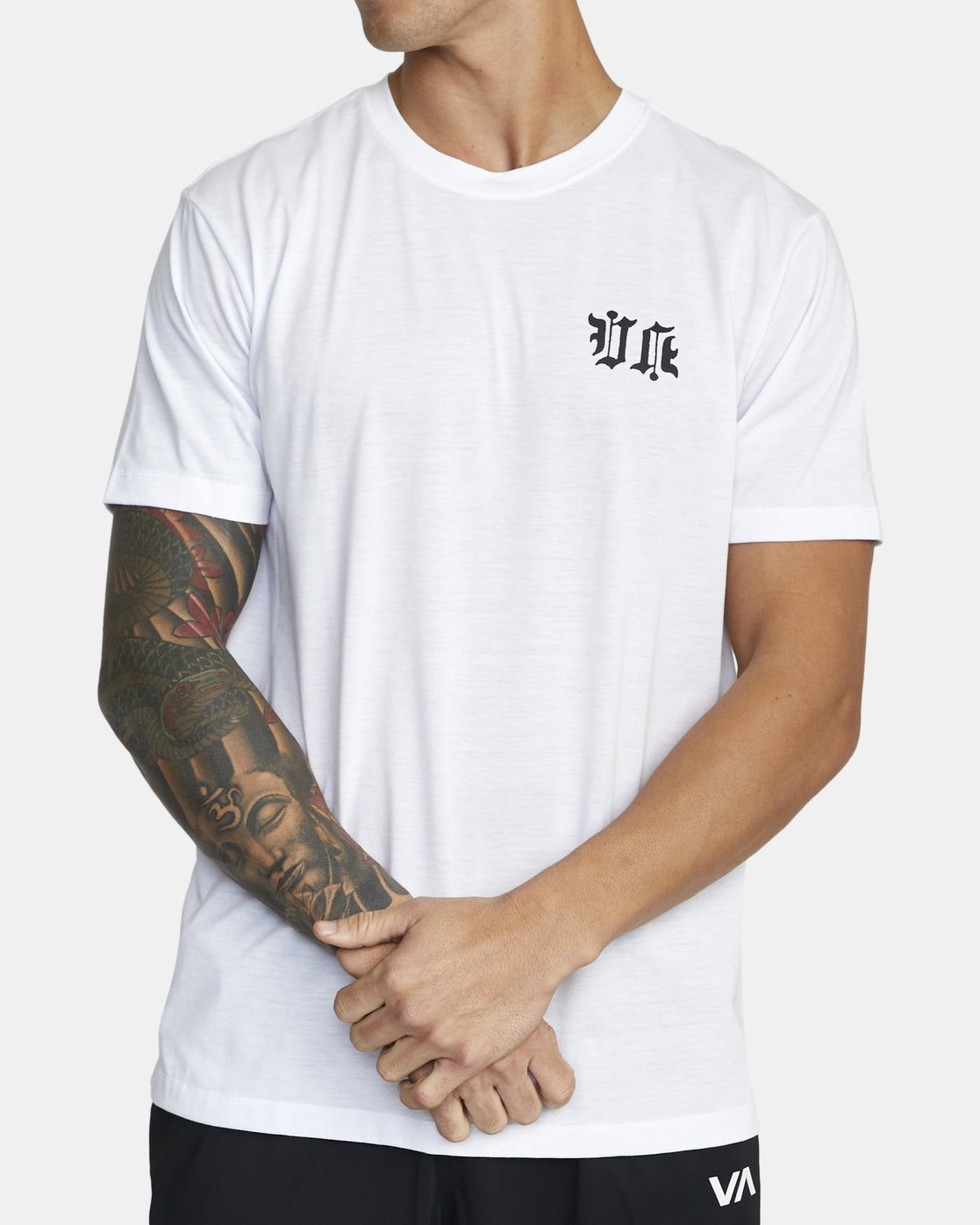 1 TIGER KRAK SHORT SLEEVE TEE White V4043RTI RVCA