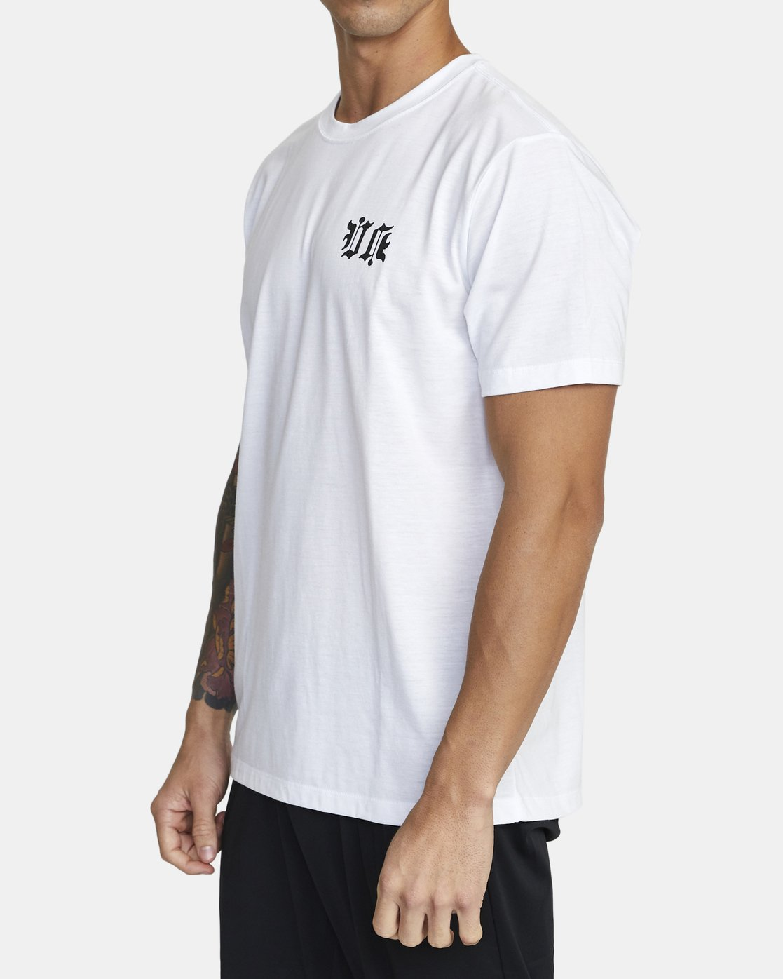 3 TIGER KRAK SHORT SLEEVE TEE White V4043RTI RVCA