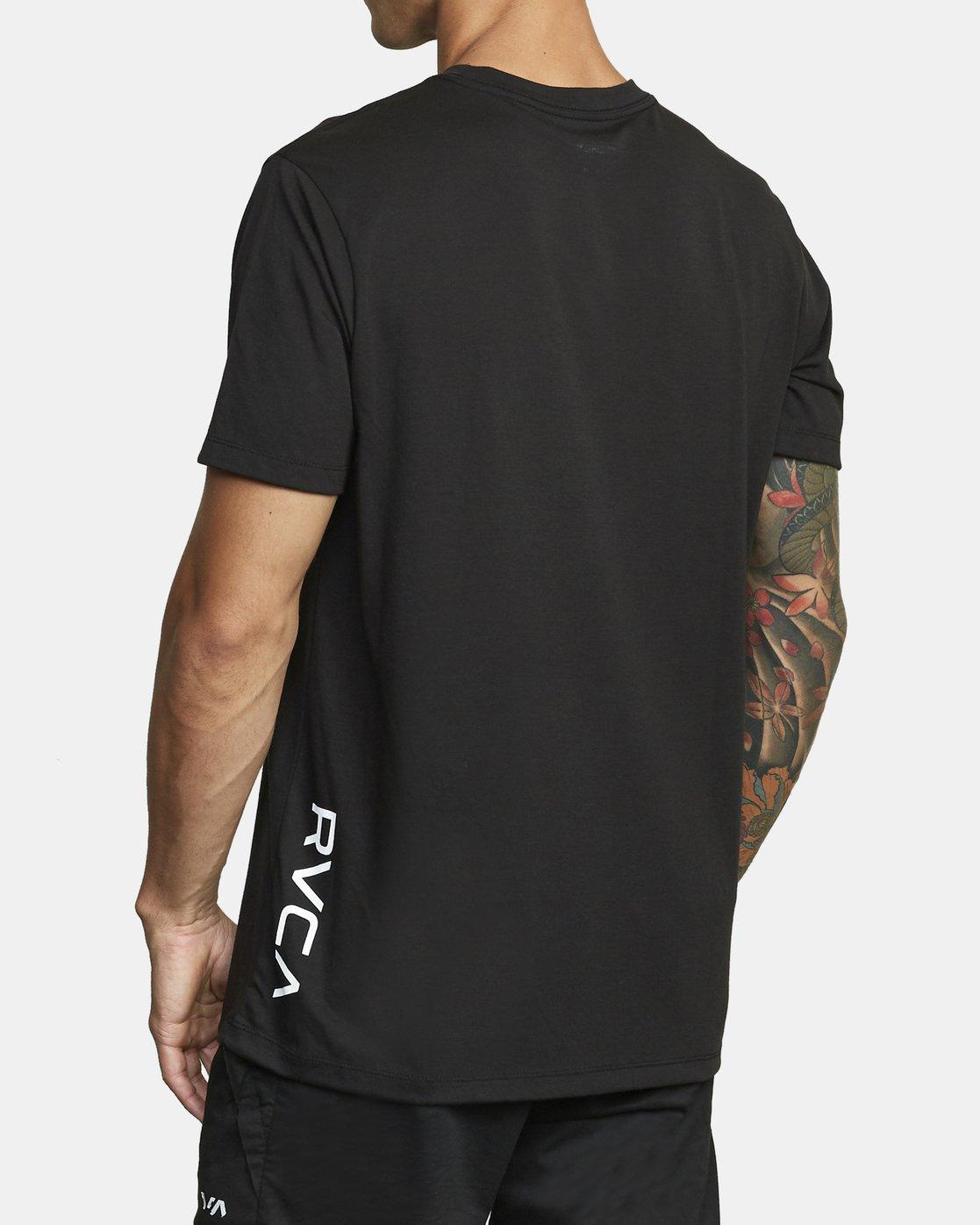 2 VA RVCA SHORT SLEEVE T-SHIRT Black V4043RVR RVCA