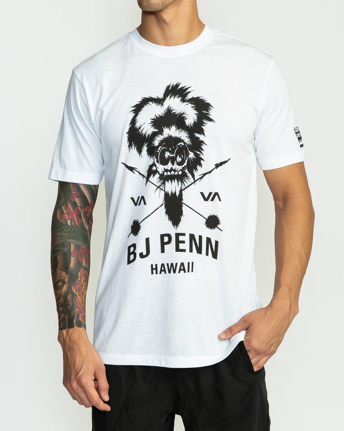 2 BJ Penn TKO Sport T-Shirt White V404SRTK RVCA