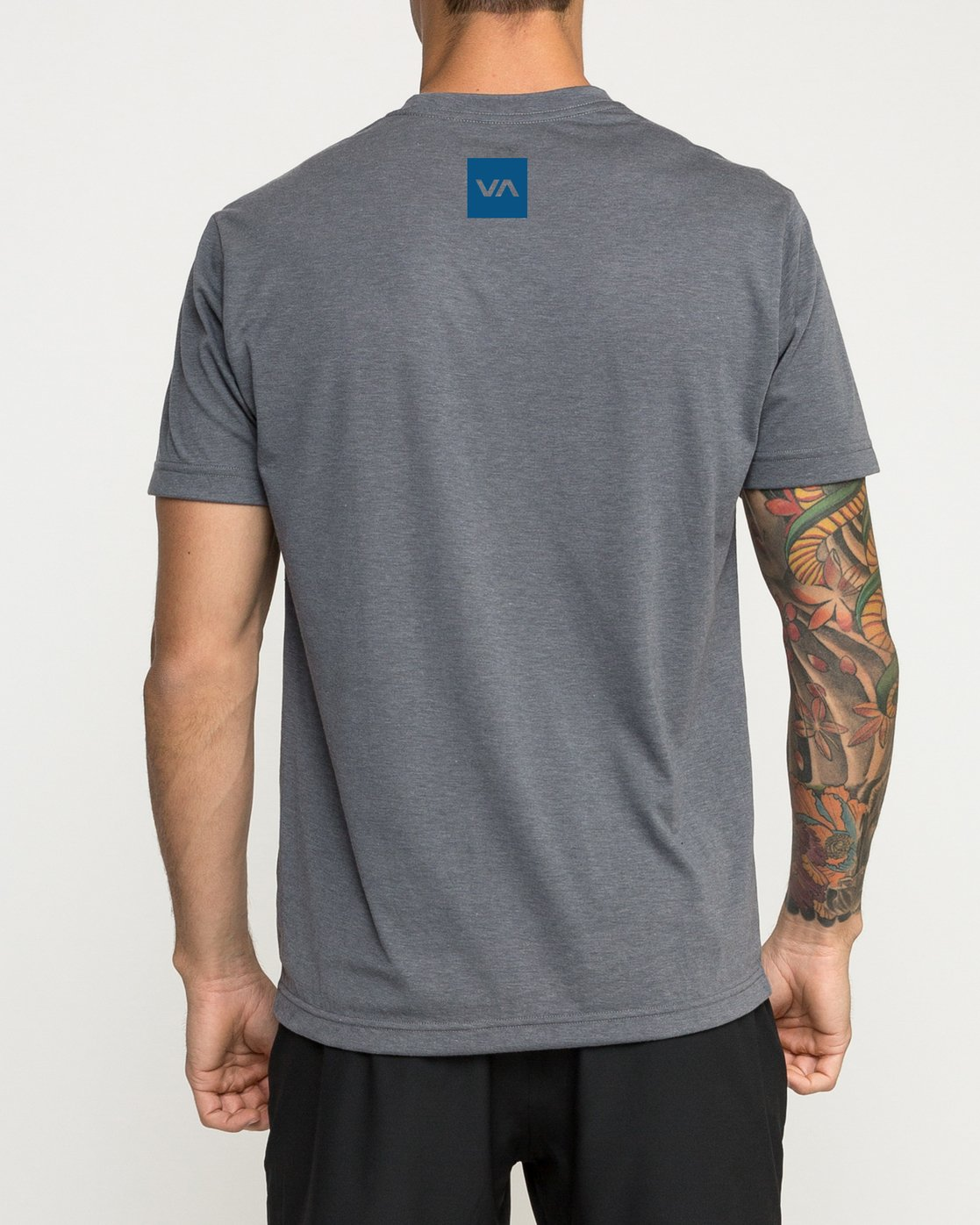 3 RVCA Verted Performance T-Shirt Grey V404TRRV RVCA