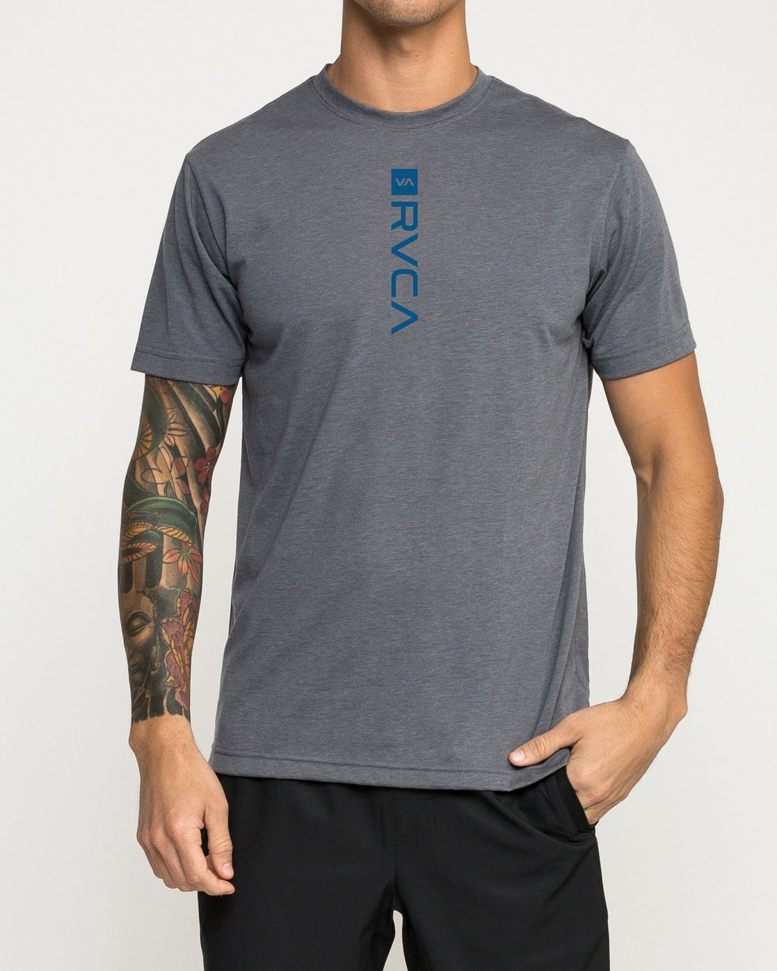 1 RVCA Verted Performance T-Shirt Grey V404TRRV RVCA
