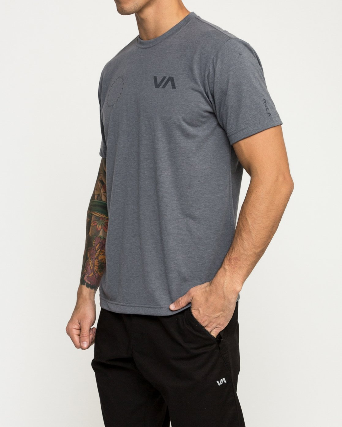 3 Stealth Seal Performance T-Shirt Grey V404TRST RVCA