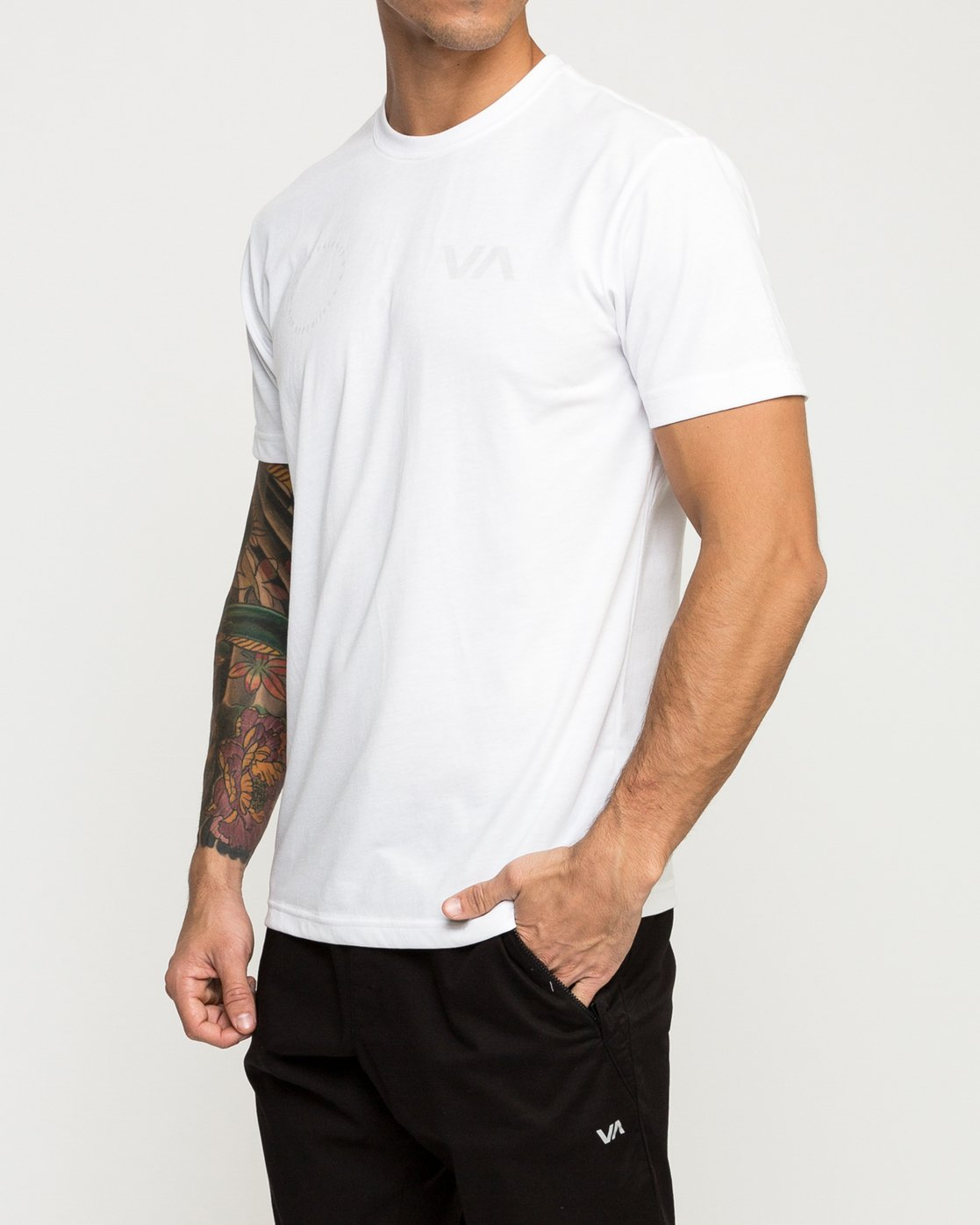 3 Stealth Seal Performance T-Shirt White V404TRST RVCA