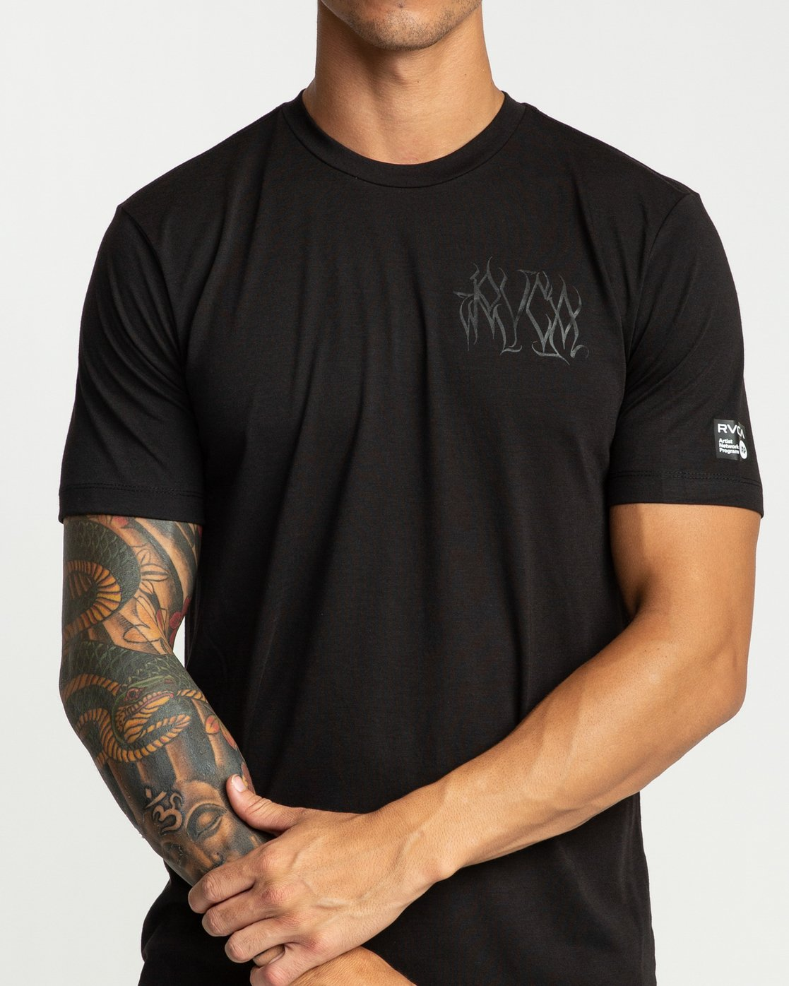 5 Defer Chest Performance T-Shirt Black V404UREF RVCA