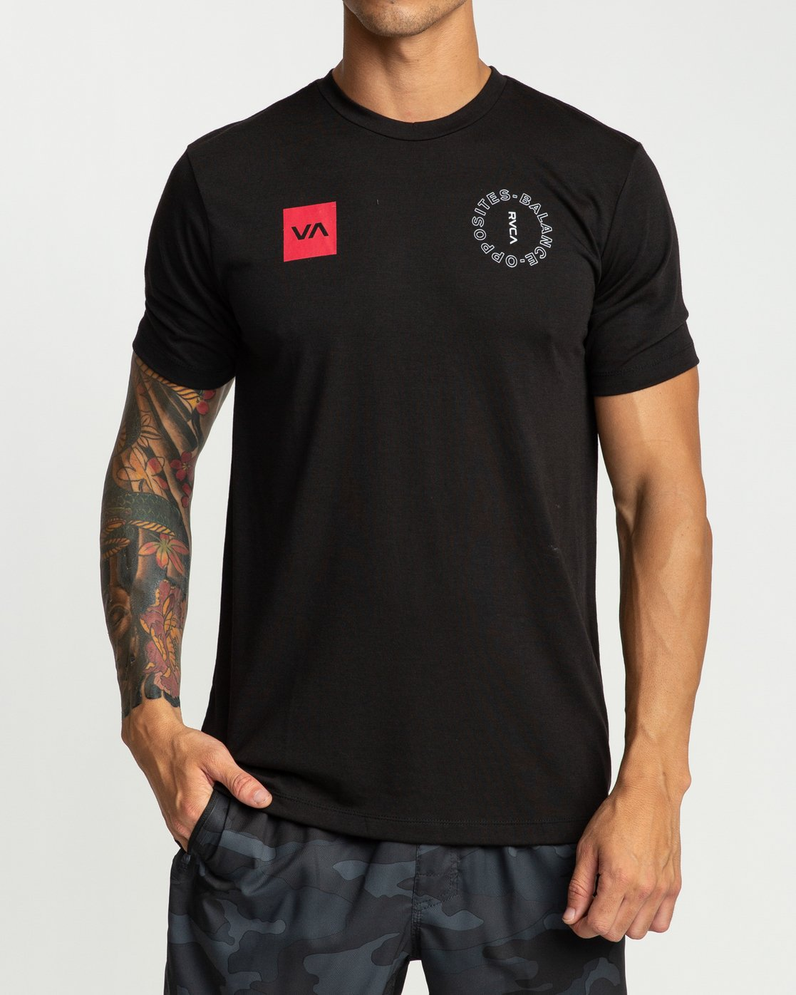 2 Pin Around Performance T-Shirt Black V404URPI RVCA