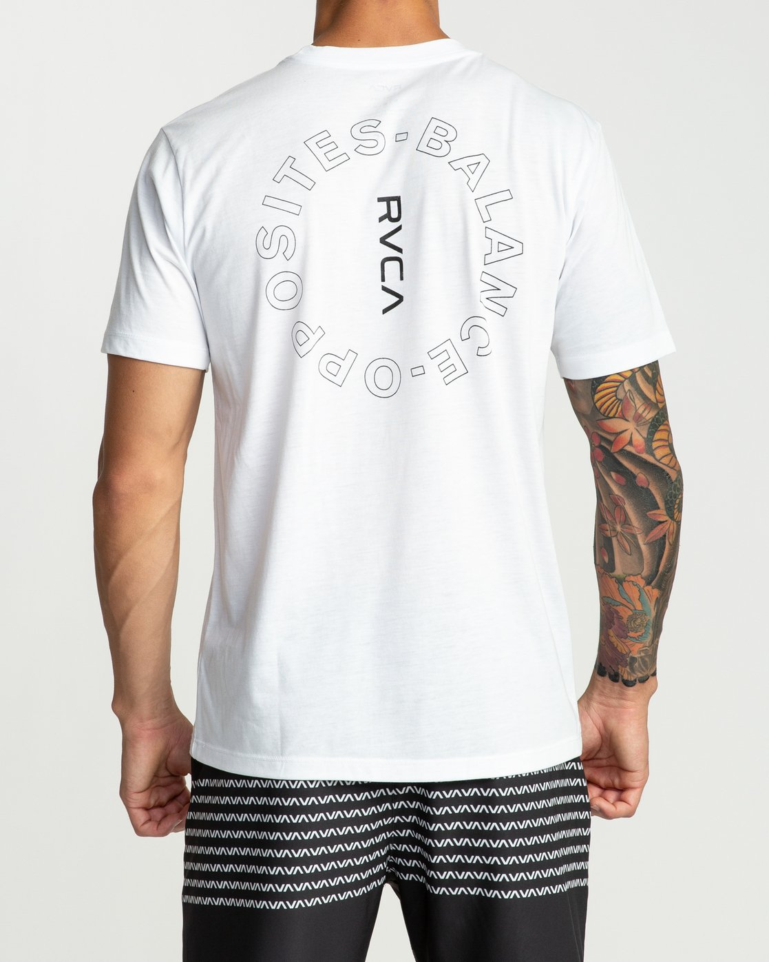 3 Pin Around Performance T-Shirt White V404URPI RVCA