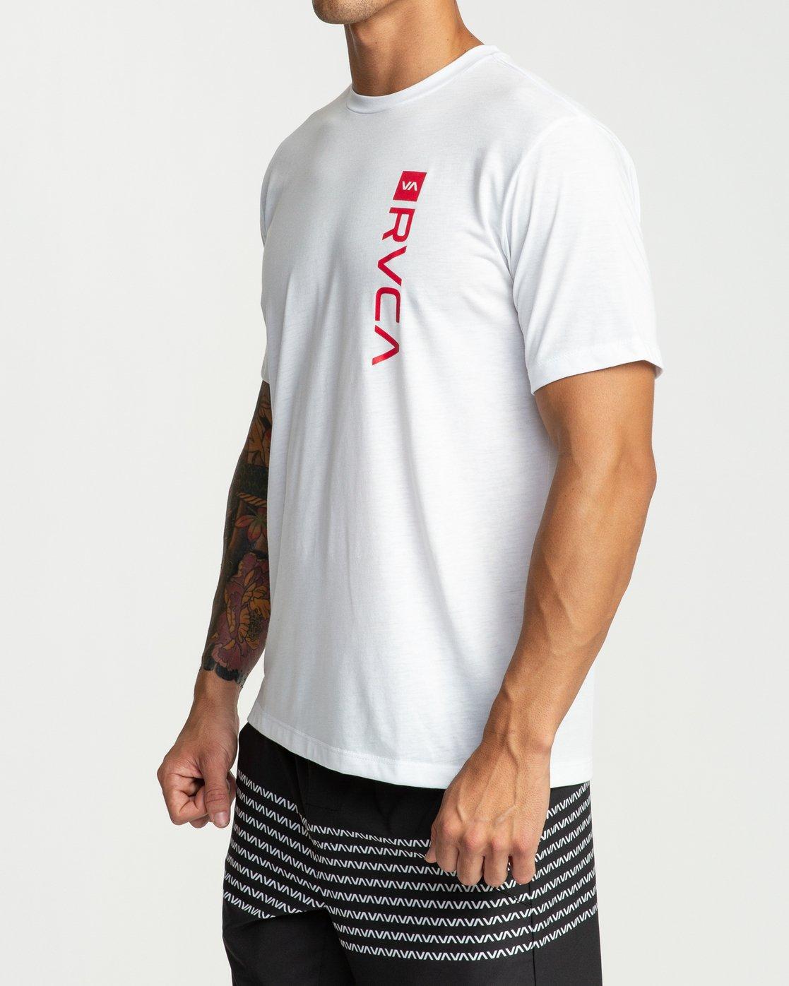 3 RVCA Revert Performance T-Shirt White V404URRE RVCA