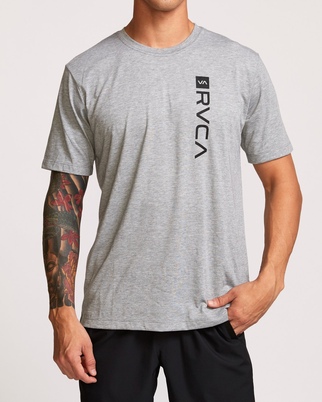 2 RVCA Box Drirelease T-Shirt Grey V404VRBO RVCA