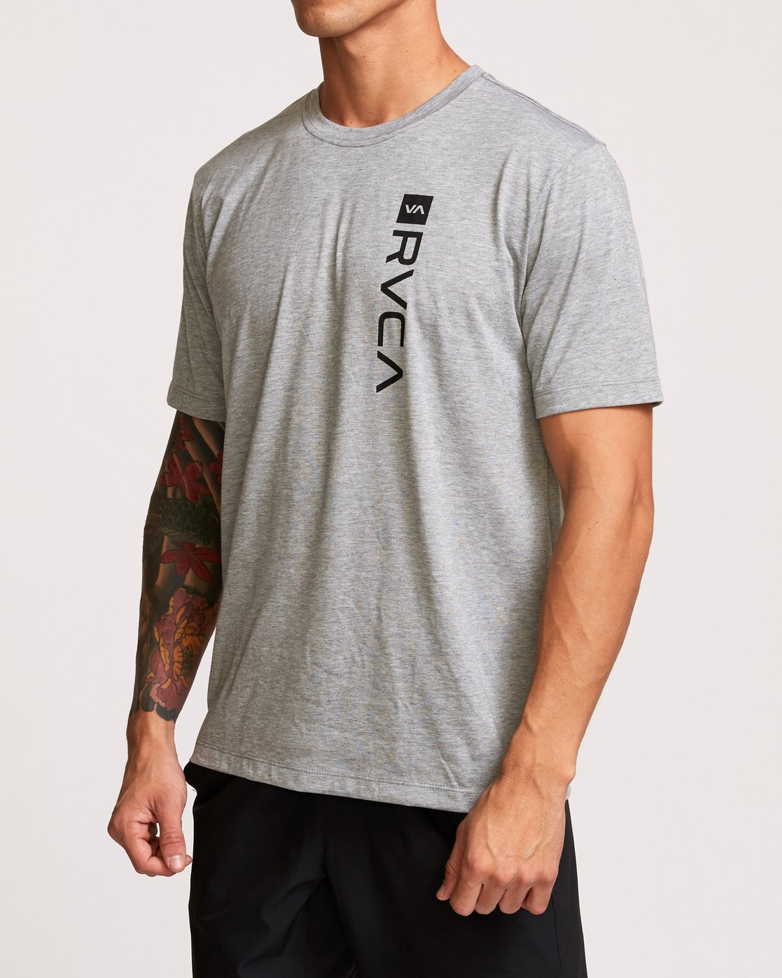 3 RVCA Box Drirelease T-Shirt Grey V404VRBO RVCA