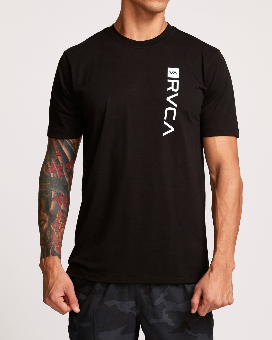2 RVCA Box Drirelease T-Shirt Black V404VRBO RVCA