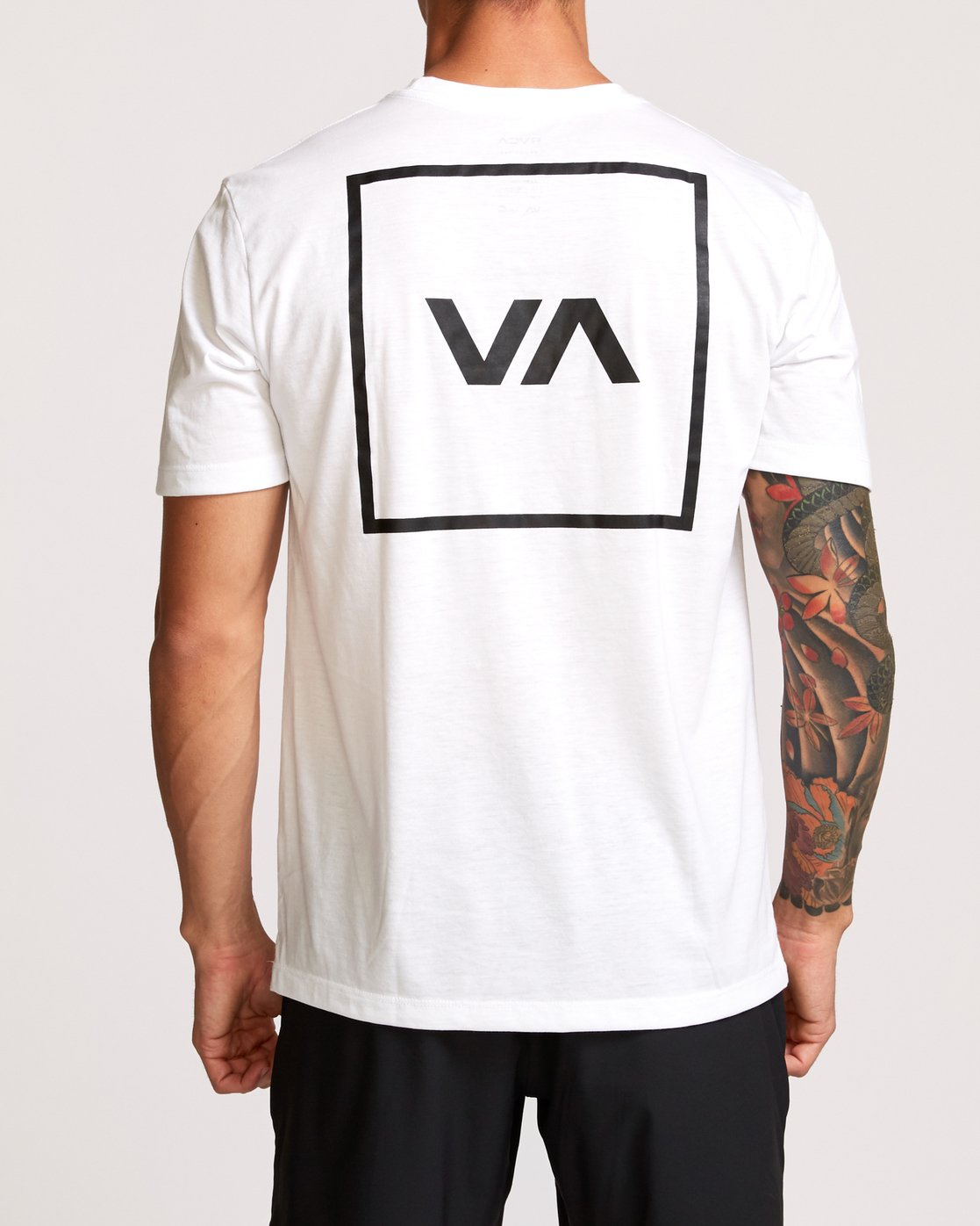 4 RVCA Box Drirelease T-Shirt White V404VRBO RVCA