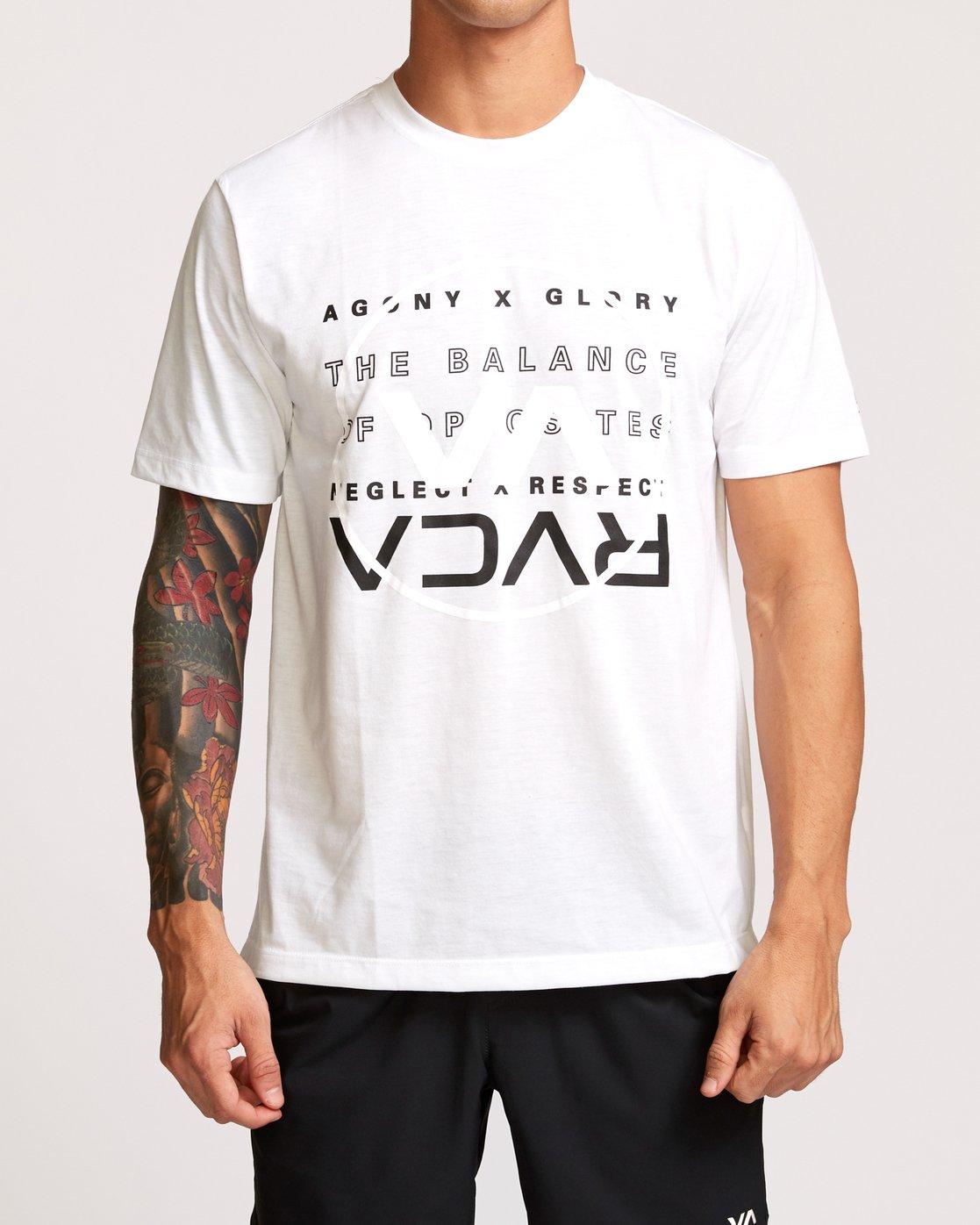 1 Brand Over Balance T-Shirt White V404VRBR RVCA