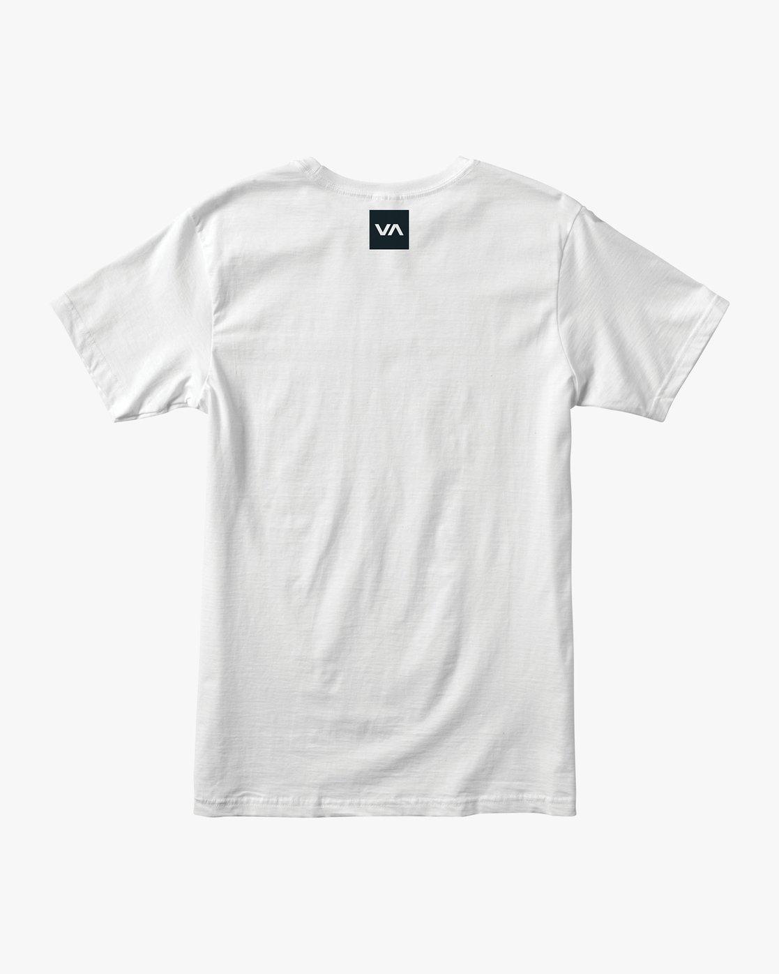 1 RVCA Club T-Shirt White V404VRCL RVCA