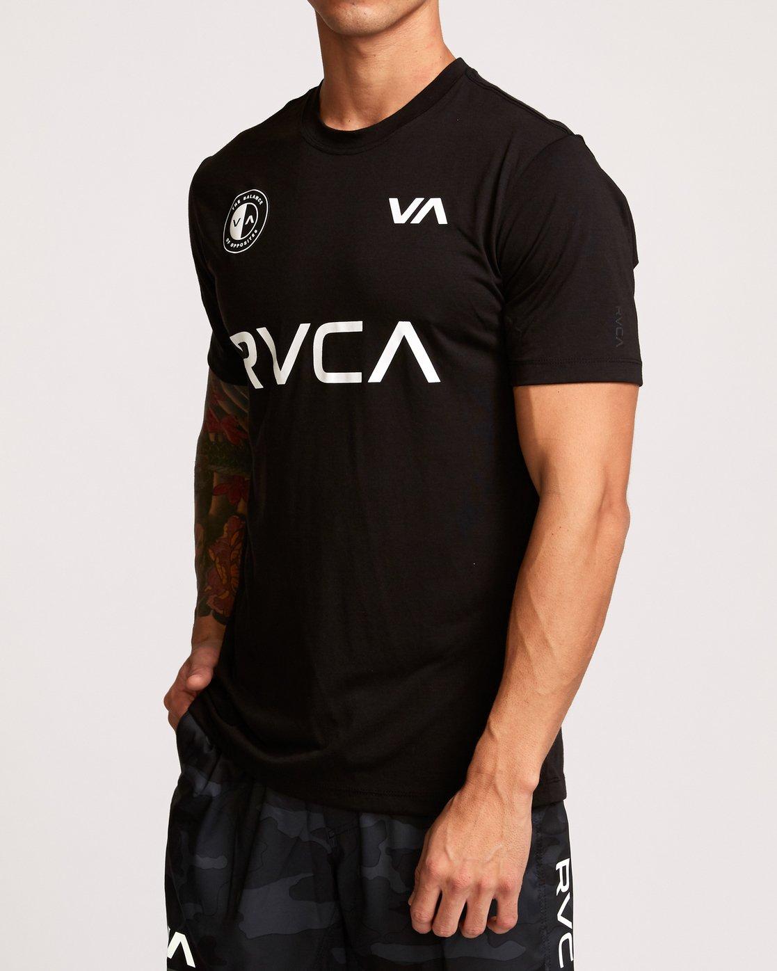 3 RVCA Club T-Shirt Black V404VRCL RVCA