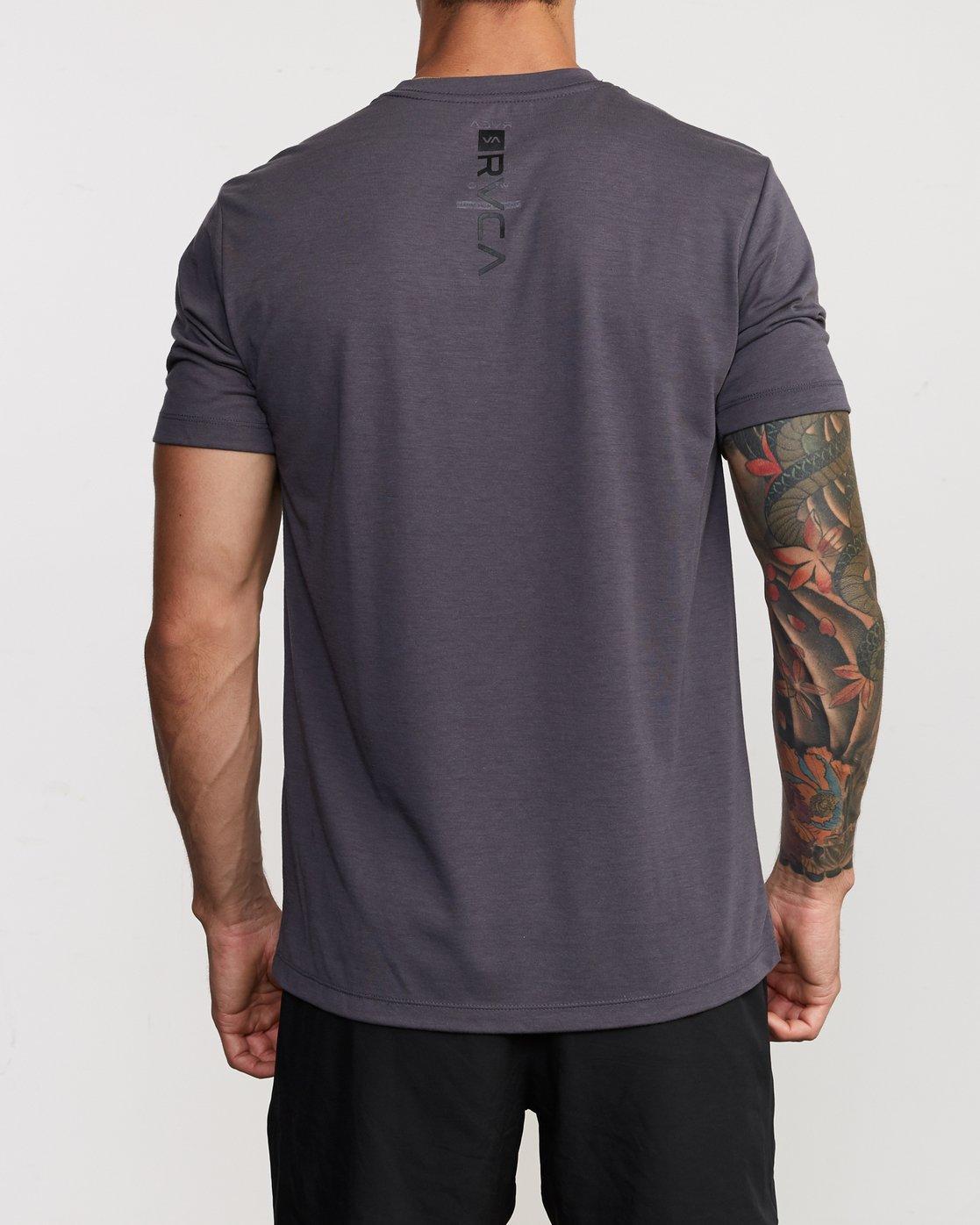 3 Francesco Fid Turmoil T-Shirt Grey V404VRFI RVCA