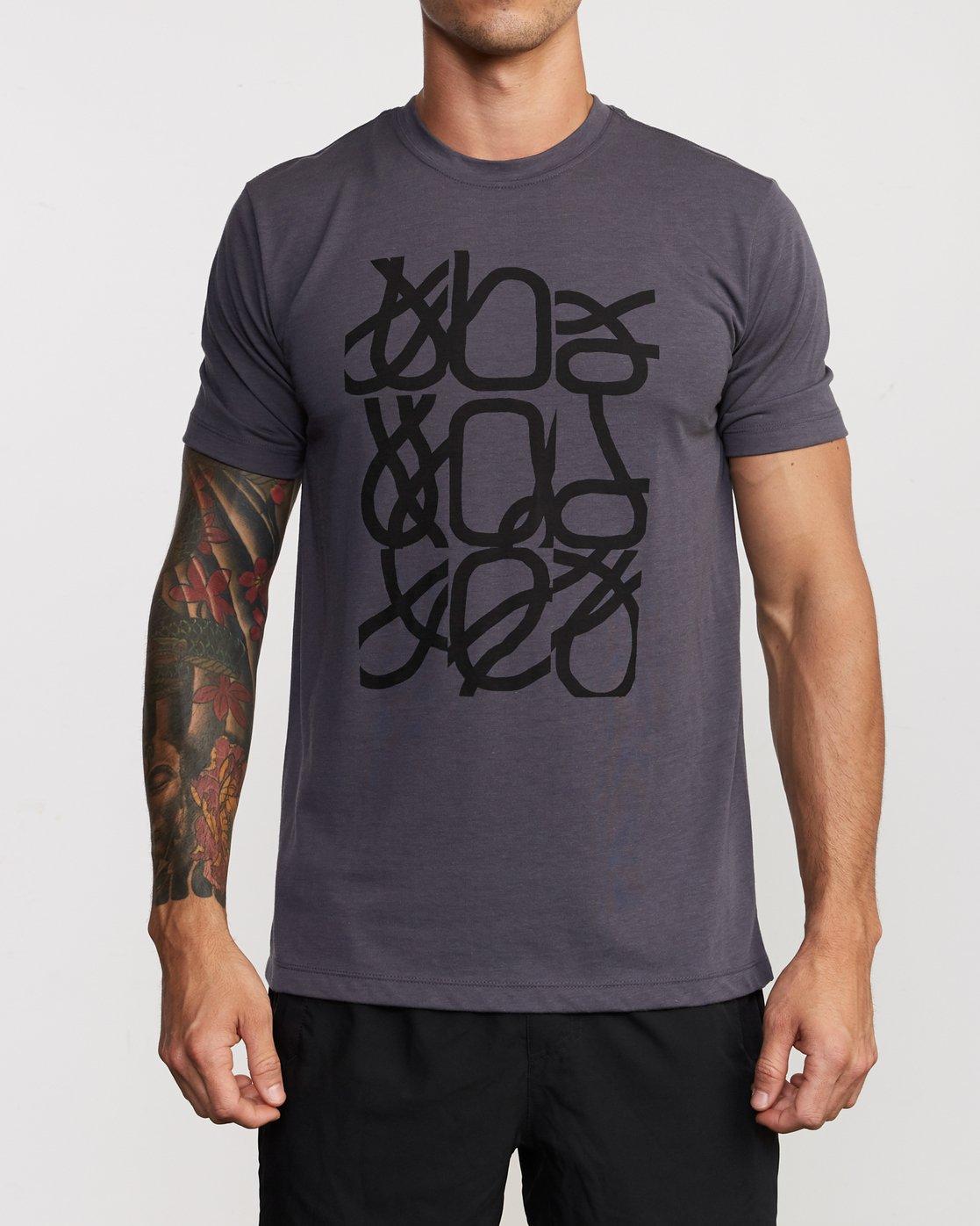 1 Francesco Fid Turmoil T-Shirt Grey V404VRFI RVCA