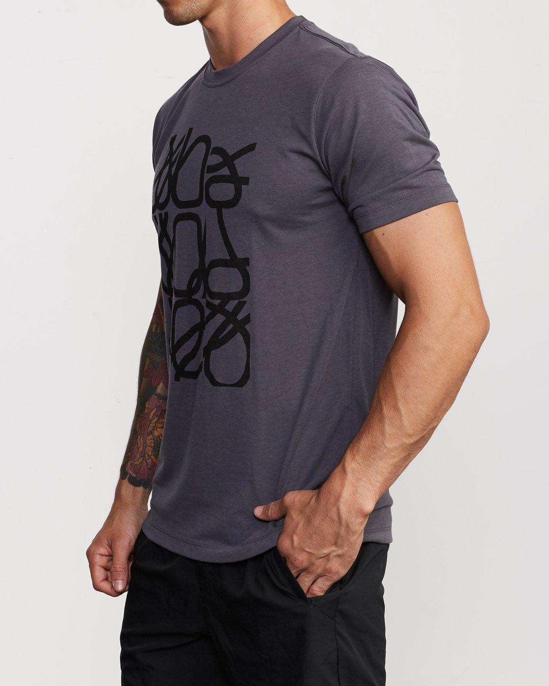 2 Francesco Fid Turmoil T-Shirt Grey V404VRFI RVCA