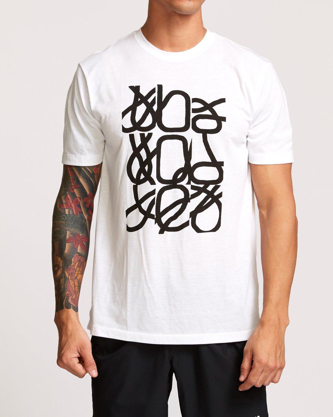 2 Francesco Fid Turmoil T-Shirt White V404VRFI RVCA