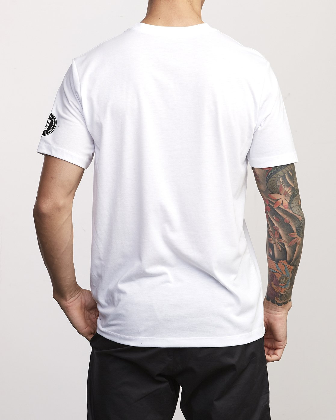 2 BJ Penn Arc Drirelease T-Shirt White V404WRBA RVCA