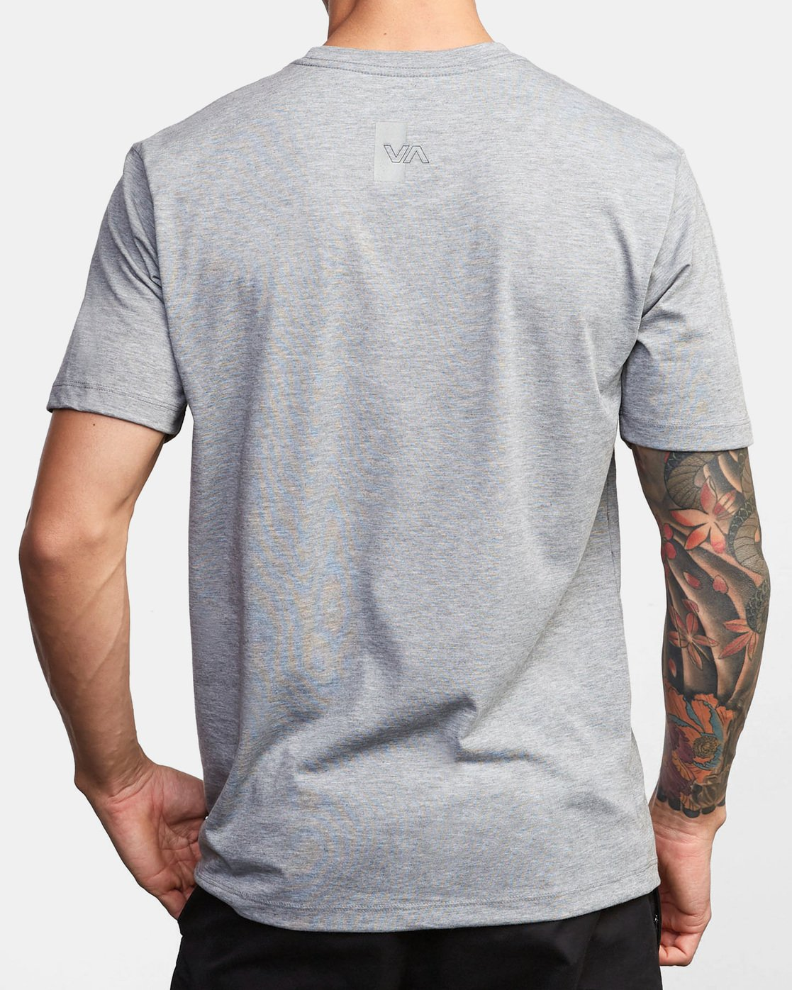1 VA Out Drirelease T-Shirt Grey V404WRVO RVCA