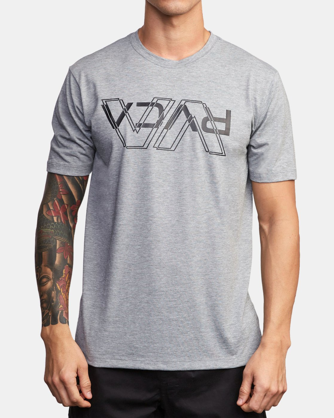 0 VA Out Drirelease T-Shirt Grey V404WRVO RVCA