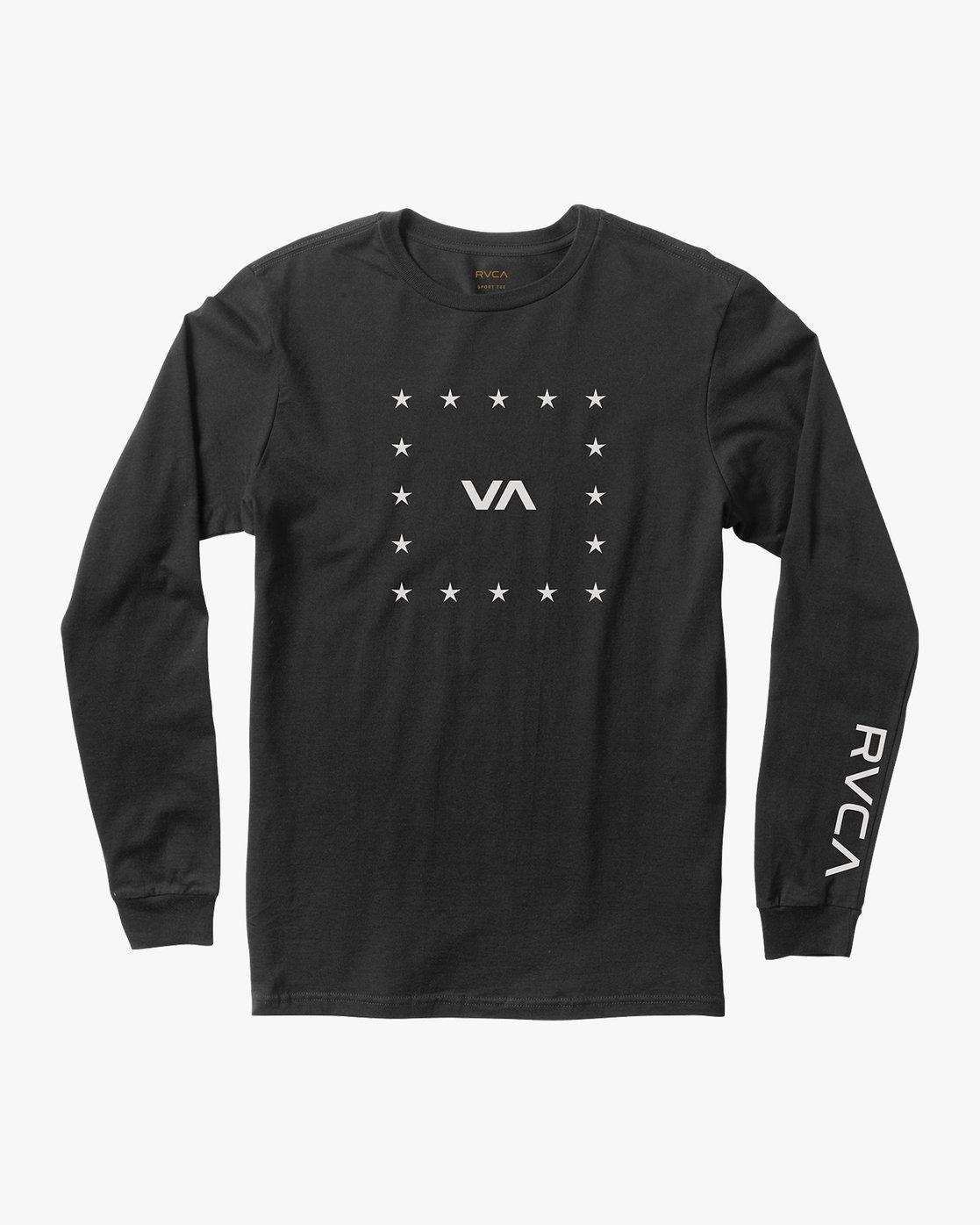 0 VA Corners Long Sleeve T-Shirt Black V451TRVC RVCA