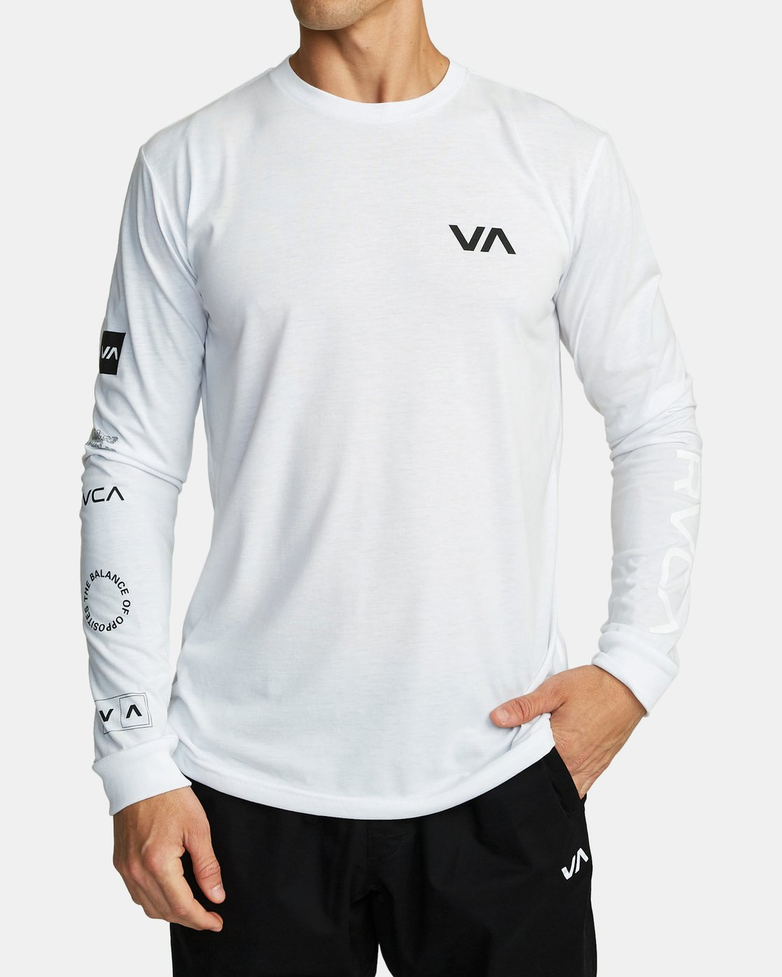 0 ALL OUT RVCA LONG SLEEVE TOP White V4531RAO RVCA
