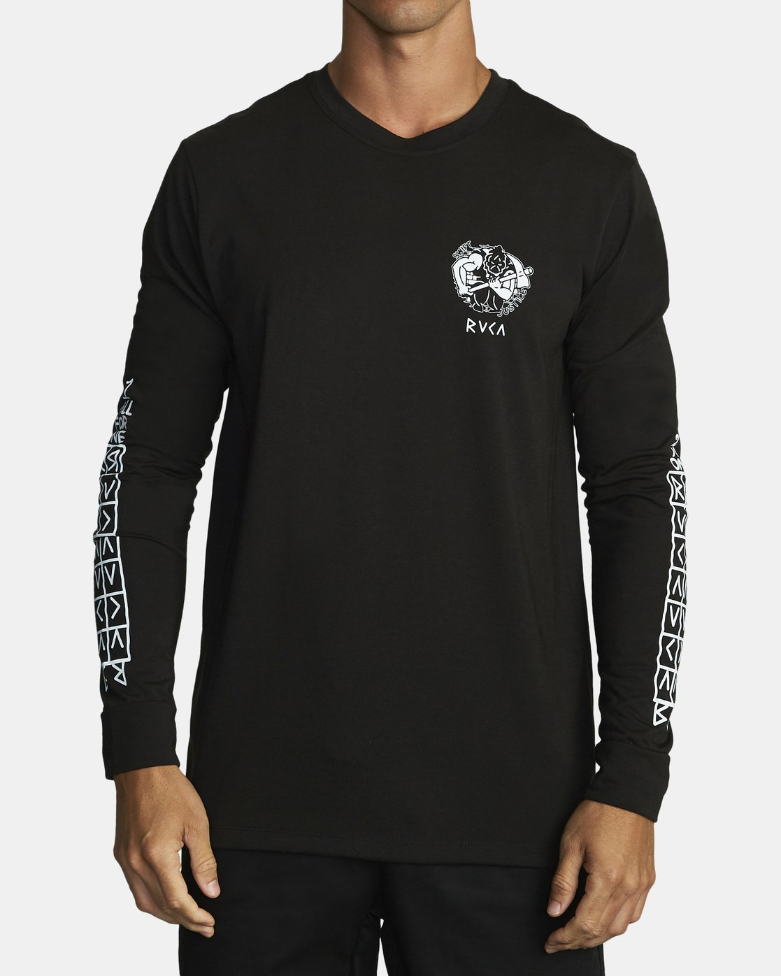 0 PROTECTION FROM LONG SLEEVE T-SHIRT Black V4532RPR RVCA