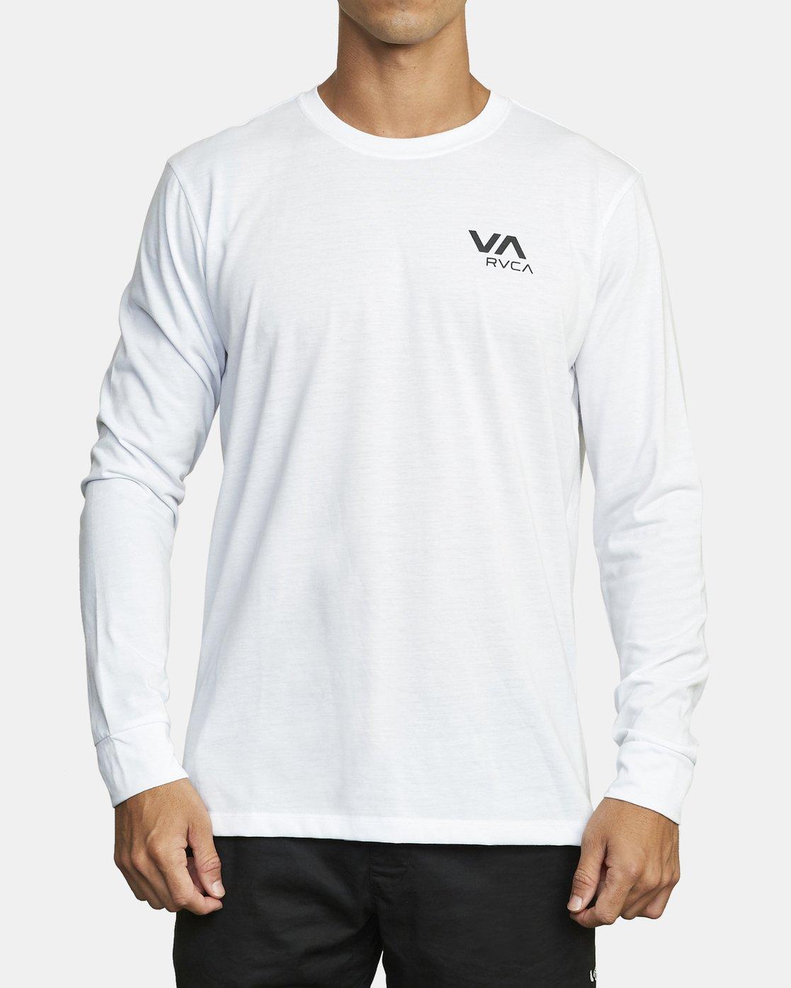 1 VA RVCA LONG SLEEVE TEE White V4533RVR RVCA