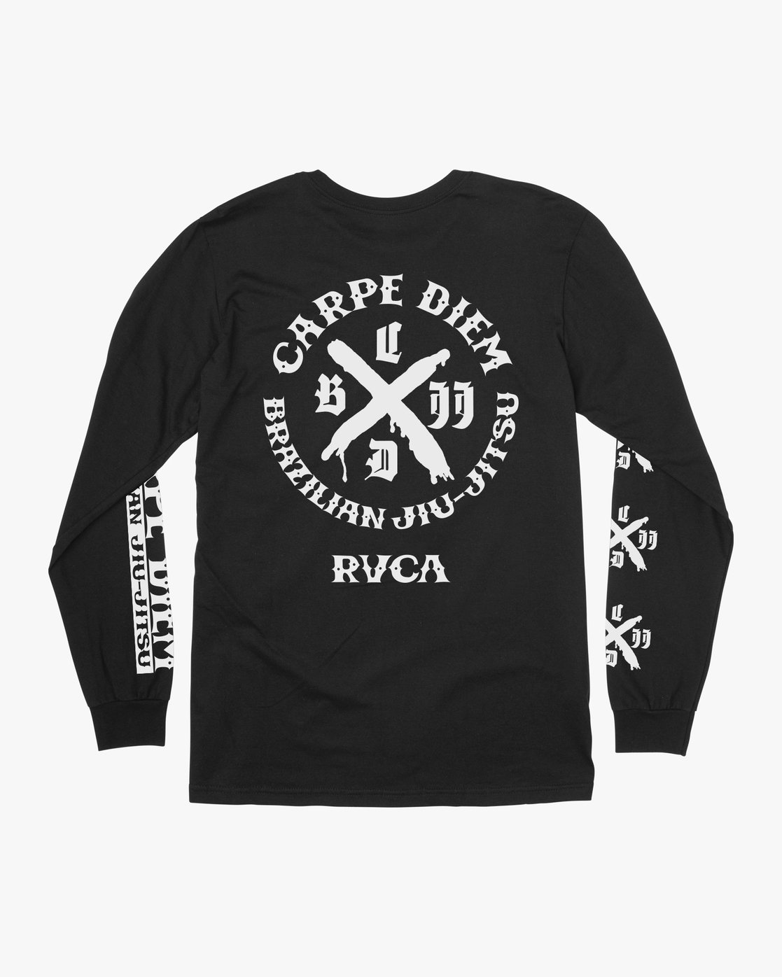 0 Carpe Diem Tokyo Long Sleeve T-Shirt Black V453VRCD RVCA